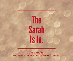 The Sarah Is In.
